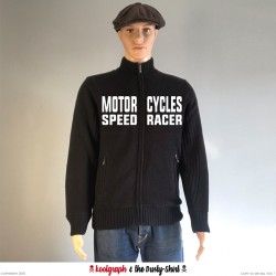 Motorcycles Speed Racer sweater 1940 koolgraph kustom kulture