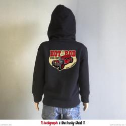 hot rod speed shop veste capuche zip kustom kulture koolgraph