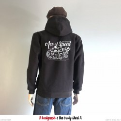Ace of Speed Cafe Racer veste capuche zip  koolgraph kustom kulture