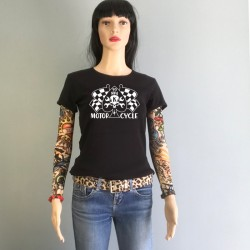Motorcycle Girl Power Rebel koolgraph kustom kulture